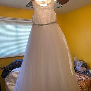 Ball Gown Flower Girl Dress with Heart Cutout